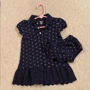 Ralph Lauren dress for toddler, matching bloomers